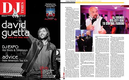 DJ Shane in DJ Times magazine