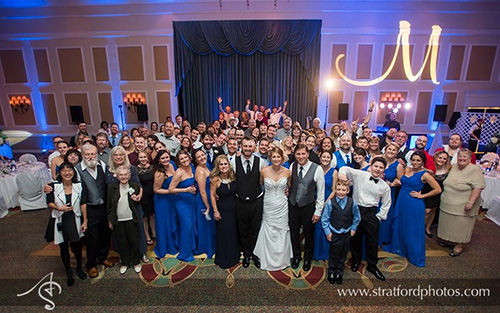 Melbourne Florida Wedding Reception GOBO and Monogram Lighting by Dj Shane Entertainment