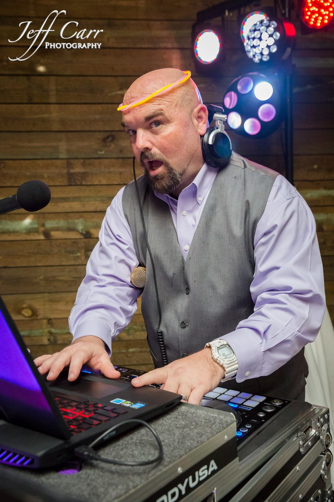 DJ Shane cuts it up at Sterling stables